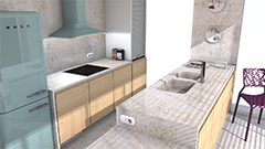 Pulsar silestone for Disena tu cocina virtual